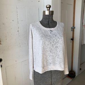 Victorias Secret Lace & Slub Top Pullover Med
